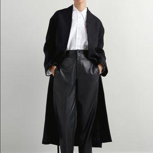 Zara Belted Long Wool Blend Oversized Coat